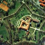 Zamek w Łańcucie z lotu ptaka